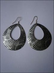 Schwarz Silberne Ohrringe