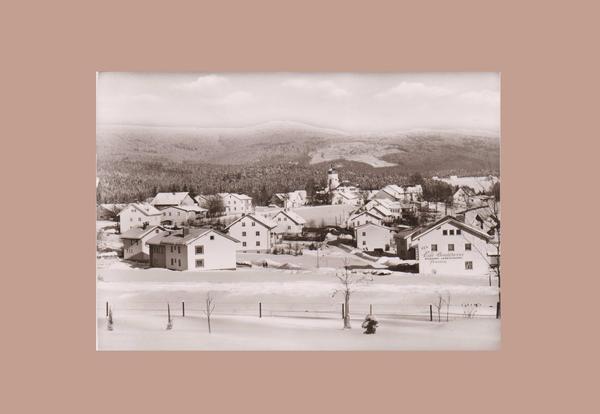 Schwarz-Weiß-Foto-Ansichtskarte von Spiegelau