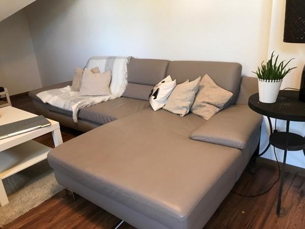 segmüller echtleder sofa in münchen - polster, sessel, couch, Hause deko