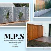 Sichtschutzelemente und Zaun