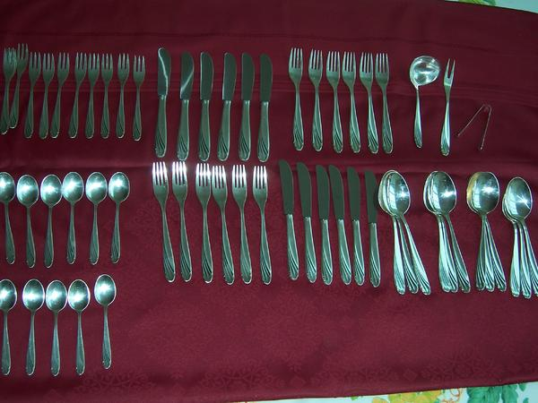 Silber Besteck, alt, 61 Teile in Gröbenzell - Geschirr und Besteck ...