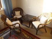 Sitzecke 3 Sessel Beistelltisch B65