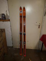 Ski mit Stöcke