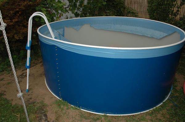Stahlwandpool 2 40 x 0 90 cm mit pumpe leiter und for Stahlwandpool folie