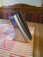 Stylischer Edelstahl gebürstet -Messerblock ohne