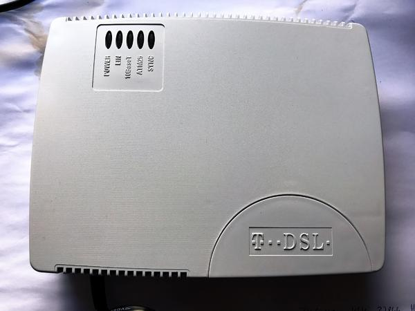 T DSL Modem und Splitter