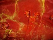 Tischdecke bzw Dekostoff orange transparent