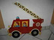 Tolle Kinder - Garderobe Feuerwehr - Feuerwehrauto -