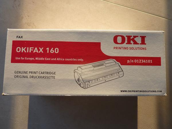 TONER / OKIFAX 160 - ORIGINAL VERPACKT - Griesheim - TONER original verpackt. Geeignet nicht nur für OKIFAX 160. TONERANGABEN: OKIFAX 160, p/n 01234101.Neupreis: 110,00 Euro. - Griesheim