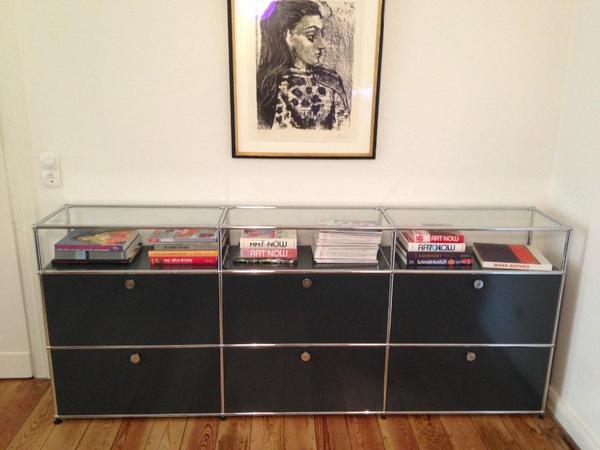 usm haller sideboard anthrazit in frankfurt designerm bel klassiker kaufen und verkaufen ber. Black Bedroom Furniture Sets. Home Design Ideas