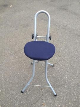 Bügel- und Mangelgeräte - verstellbarer Bügelstuhl zusammenklappbar TOP-ZUSTAND