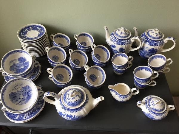 villeroy und boch burgenland blau kaffeetassen teetassen untertassen. Black Bedroom Furniture Sets. Home Design Ideas