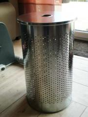 Wäschetonne Wäschesammler Wäschebox Metall verchromt