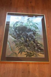 Wandbild mit Panther