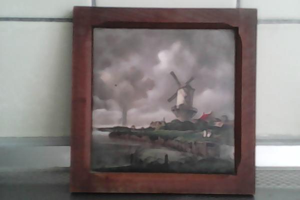 Wandfliese alte Holländische landschaft