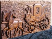 Wandrelief massiv Holz geschnitzt 2
