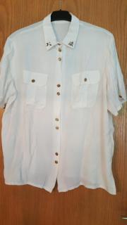 Weiße Damen Bluse