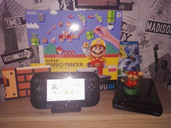 Wii U - Bedesbach - Wii U Premium Pack zu verkaufen mit 7 Vorinstallierten SpielenSuper Mario Makersplatoonthe legend of zeldaMario Party 10 yoshis woolly worldsuper mario 3DSuper Mario und die olympischen Sommerspieleund auf der CD pokemon tekkenmit ladestation - Bedesbach