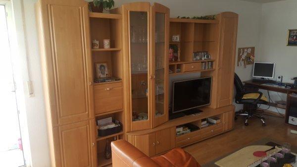 Wohnwand anbauwand buche gebraucht kaufen nur 3 st bis for Jugendzimmer quoka