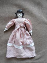 wunderschöne antike Porzellan- Brustkopf- Puppe