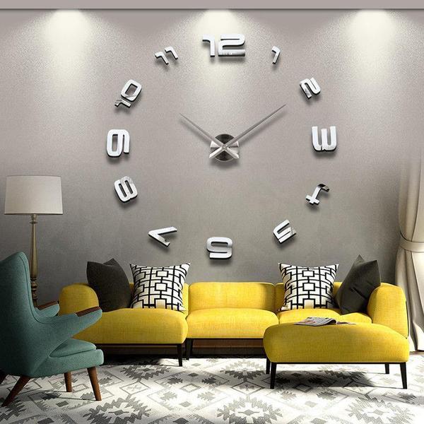 xxl designer wanduhr neu und ovp design wand uhr Ø 130 edelstahl ... - Dekoartikel Wohnzimmer