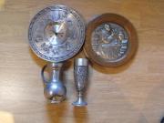 Zinn-Uhr Zinnkrug
