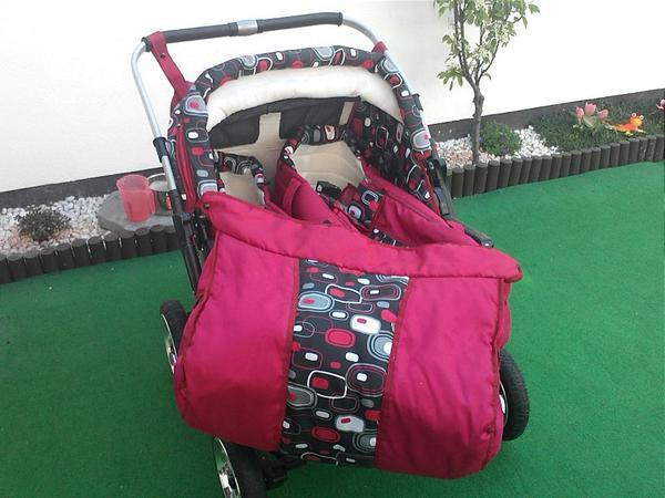 Zwillingskinderwagen mit babyschale  ZWILLINGSKINDERWAGEN + 2x BABYSCHALE in Hördt - Kinderwagen kaufen ...